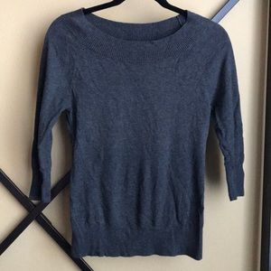 Gray scoop sweater